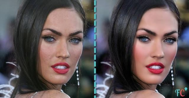 Megan-Fox beautiful face