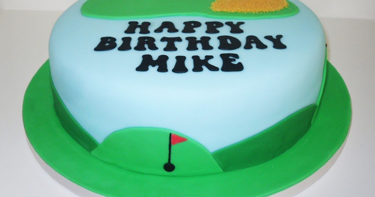 The Coloured Bubble Cakery Mikes Golf Cake