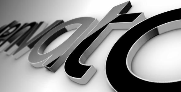VideoHive Black Classic 3D Logo