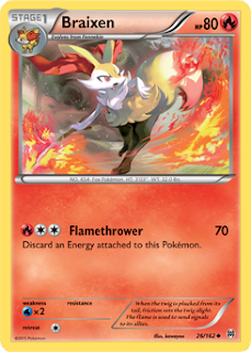 Braixen BREAKthrough Pokemon Card