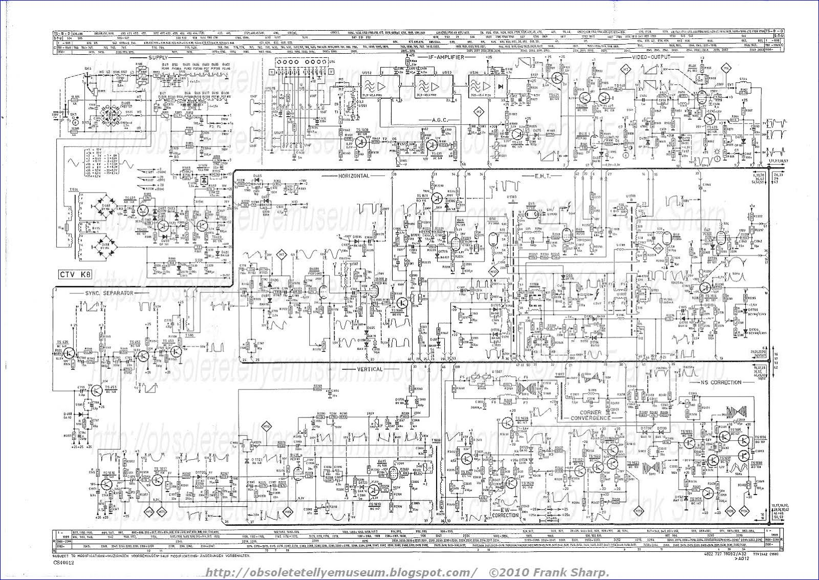 Free Schematic Diagram Philips Diagrams Theremindiagram Obsolete Technology Tellye X26k171 Royal Color 110 Giotto Electronic Circuit A Arrangement