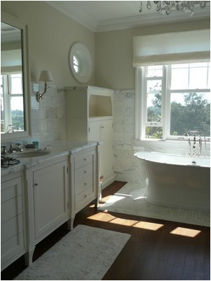 Bathrooms with Hardwood Floors