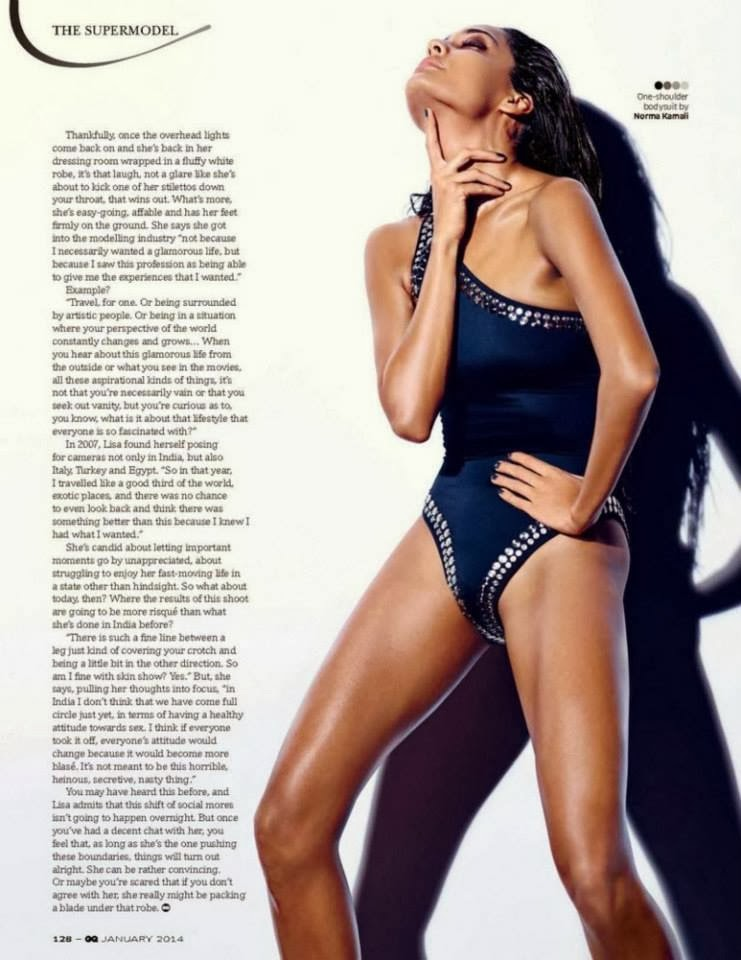 Sexy Supermodel Lisa Haydon Scans From GQ Magazine Jan 2014.