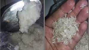 perbedaan beras plastik dengan beras asli