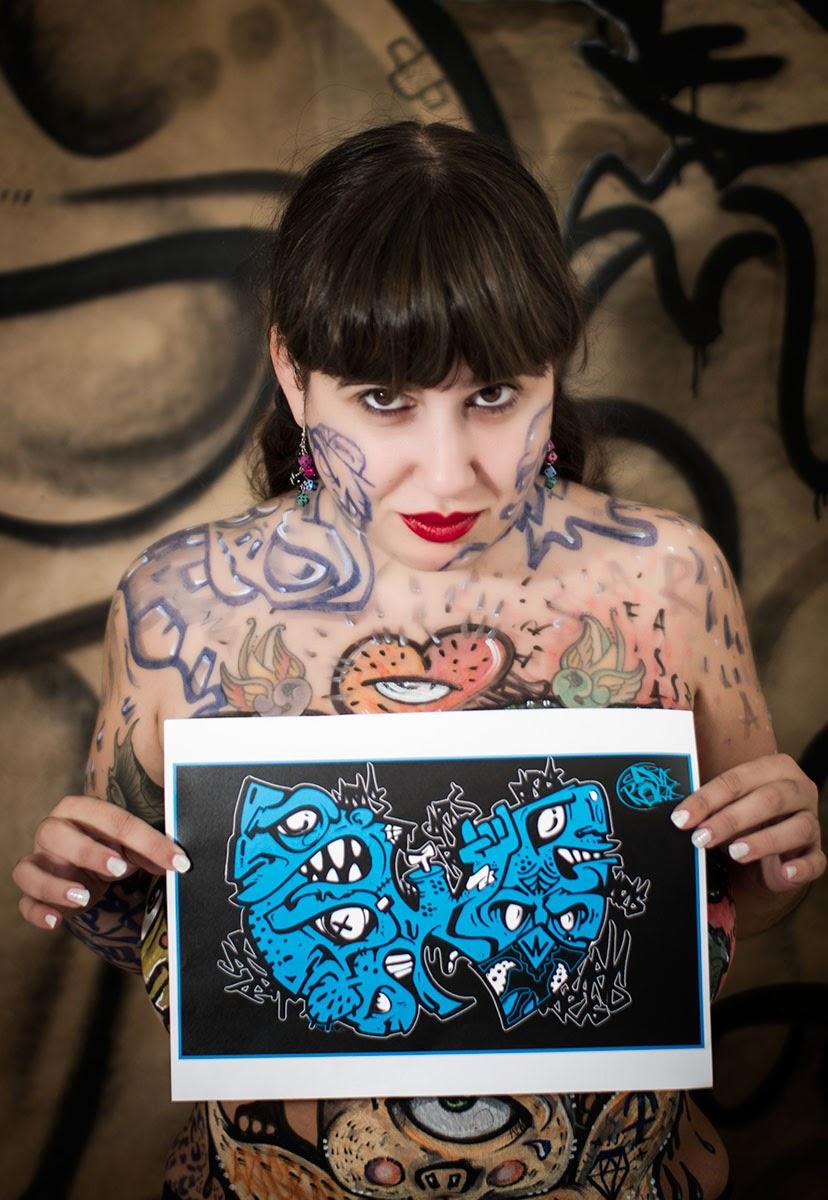 Bodypainting con Carolina Ismael y Aitor