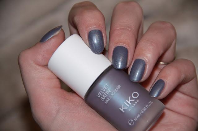 Vernis, Kiko, Swatch, 696, Titanium Lilac, Velvet Satin