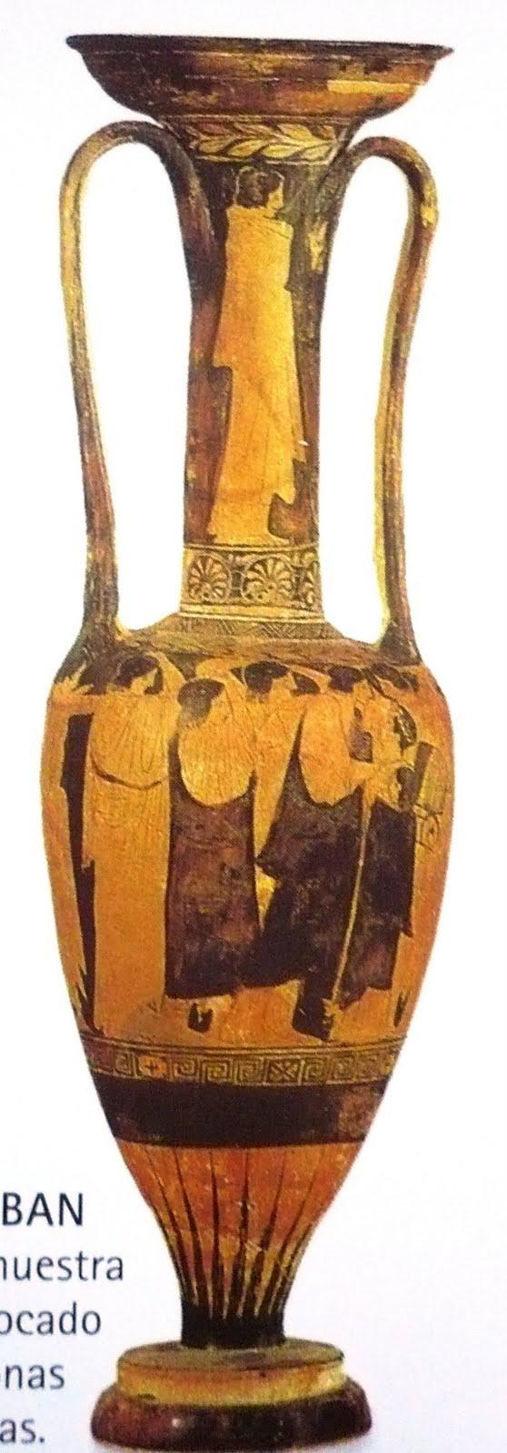 Historia del habitat ceramica griega y su relacion con el for Origen de la ceramica