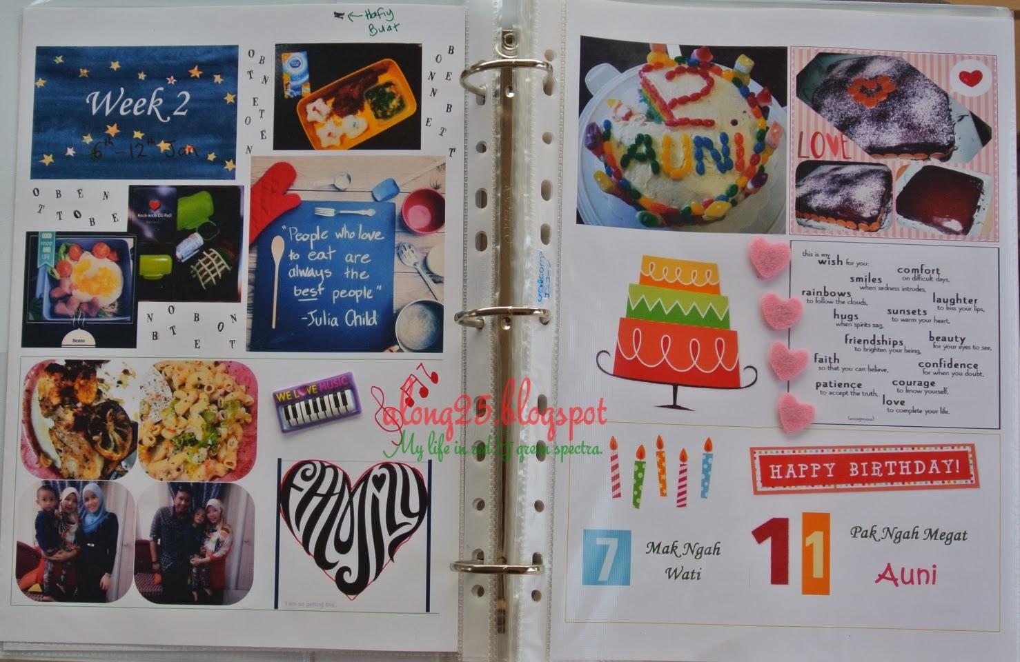 blog along25 project life 2014 malaysia art craft diari mingguan diari bergambar