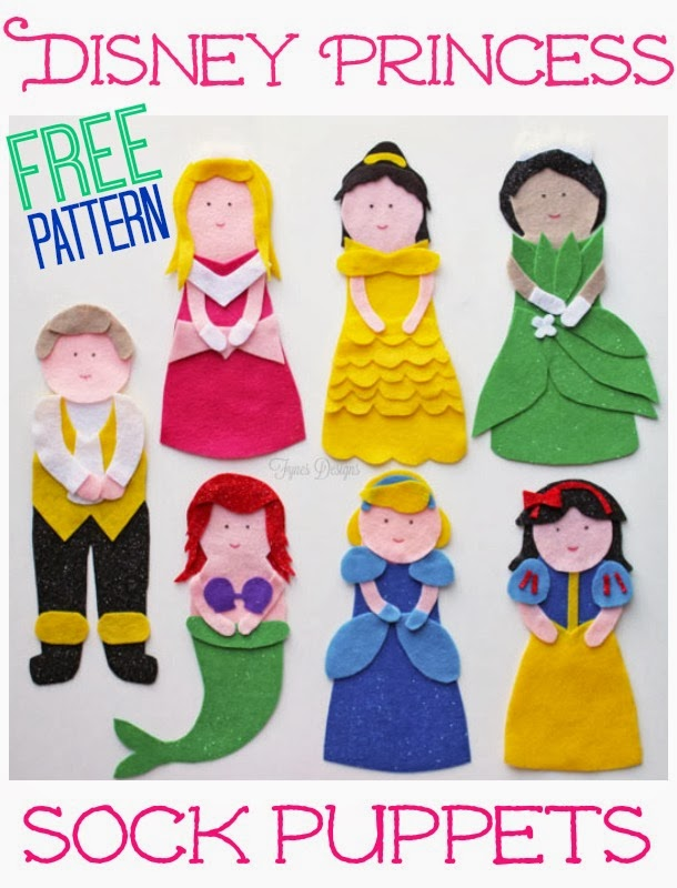 http://www.fynesdesigns.com/disney-princess-puppets-free-pattern/