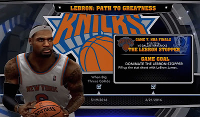 NBA 2K14 LeBron Path to Greatness: Fantastic Journey Storyline