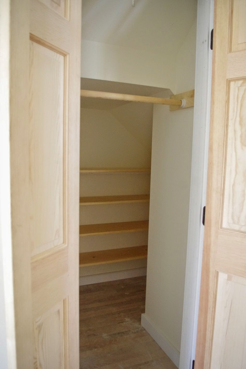 shelving ideas for bedroom closets - The New House Next Door Stair Railing and Closet Shelving