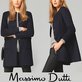 MASSIMO DUTTI Reversible Coat Crown Princess Mary of Denmark