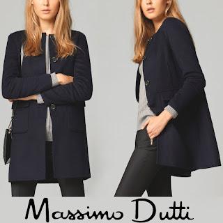 MASSIMO DUTTI Reversible Coat Crown Princess Mary of Denmark