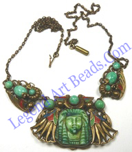 Max Neiger Egyptian Revival necklace.
