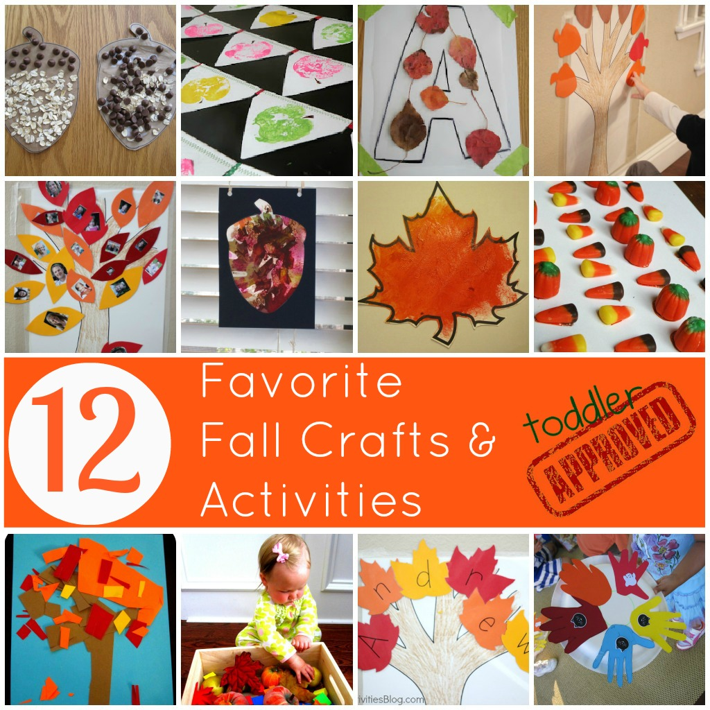 Toddler approved 12 favorite fall crafts and activities for November arts and crafts for daycare