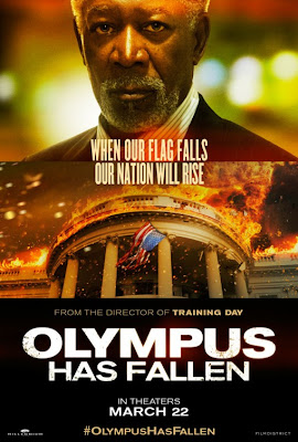 Olympus has Fallen Morgan Freeman Poster