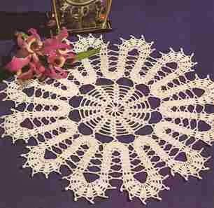 """Centro de Mesa """"Orquídea"""" a Crochet"""