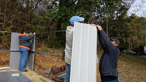 Tim, George and me putting up a support rail