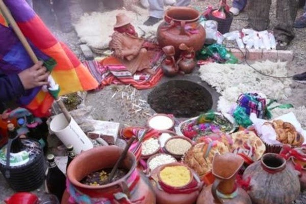 Ritual a la Pachamama en la actualidad