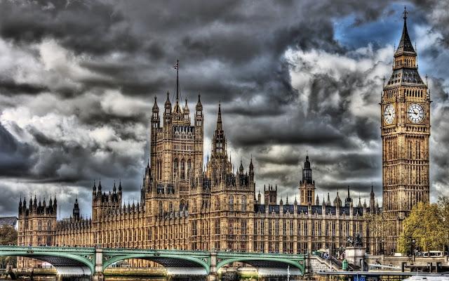 El Palacio de Westminster Parlamento del Reino Unido Paisajes de Ciudades
