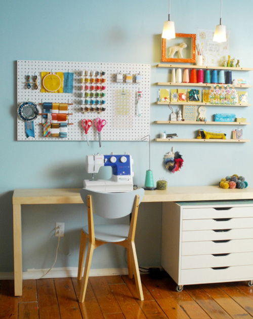 T maree clothing sewing room inspiration - Organizational furniture for small spaces set ...