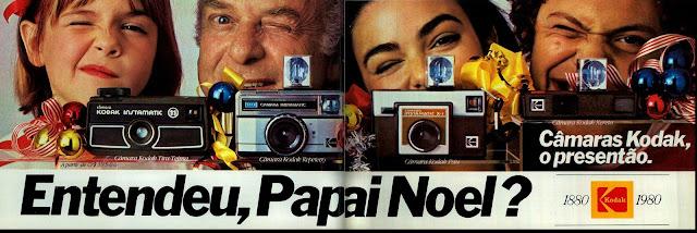 propaganda câmeras Kodak - 1979.  os anos 70; propaganda na década de 70; Brazil in the 70s, história anos 70; Oswaldo Hernandez;