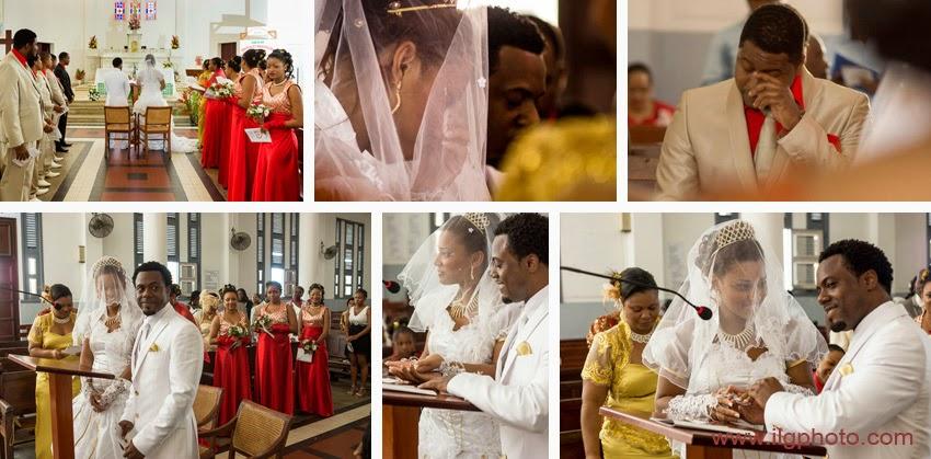 Mariage de Steffy et Manuel: scènes à l'église