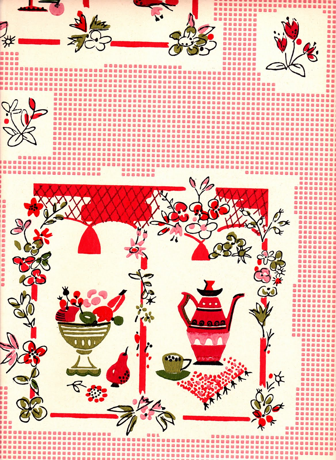 Country Kitchen Wallpaper Patterns Vavandipupus Red Patterned Wallpaper Uk