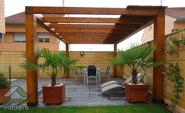 28 amazing pergolas de madera para patios - Madera para porches ...