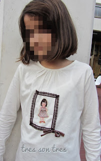 camiseta decorada, costura, niños, sewing