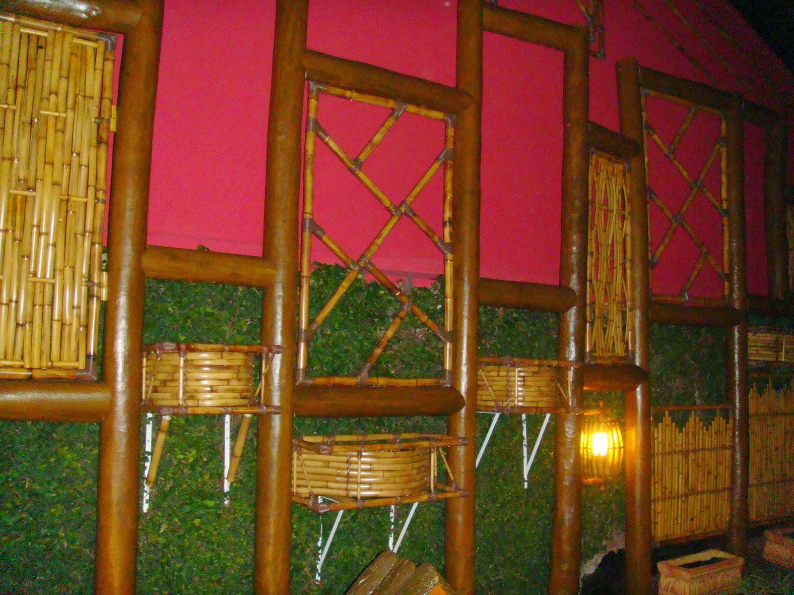 jardim vertical bambu:Arte em Bambu: Jardim Vertical em Bambu, visão noturna
