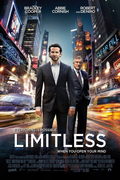 the limitless The film limitless with bradley cooper centers around the inhuman abilities his  character (eddie morra) is granted after taking the mysterious nzt-48 pill.