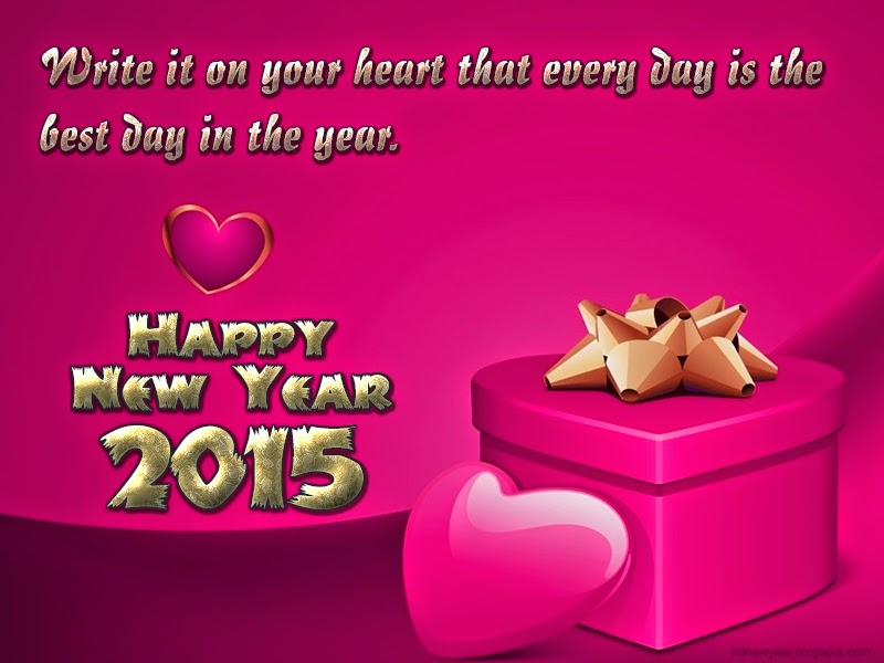 Happy New Year 2015 Romantic Heart Quotes