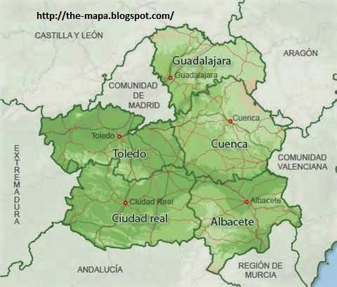 Mapa de Espaa Geografa Poltica