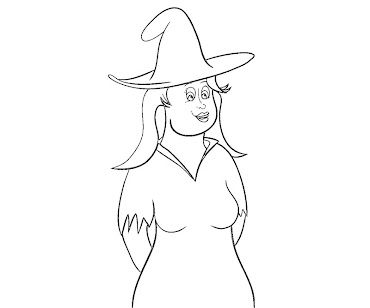 #12 Witch Coloring Page