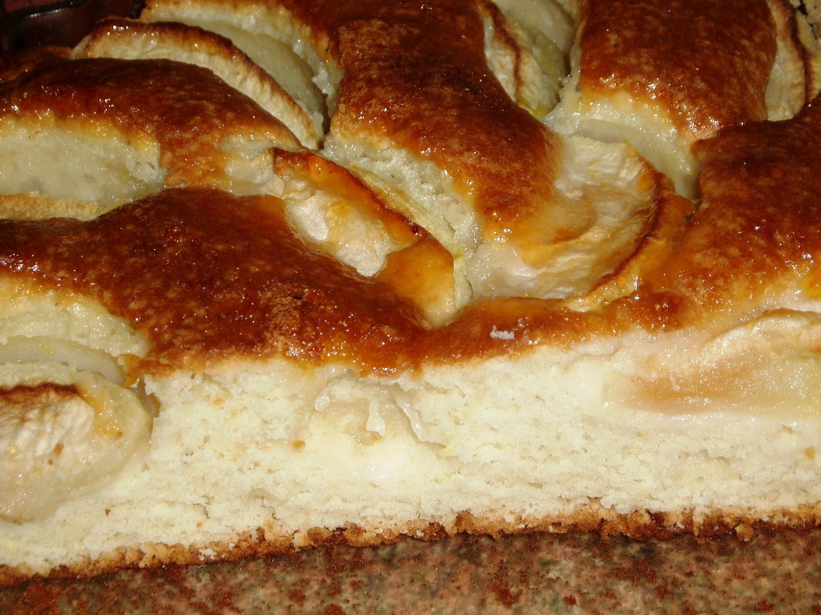 Пирог с яблоками рецепт с пошагово в духовке на йогурте