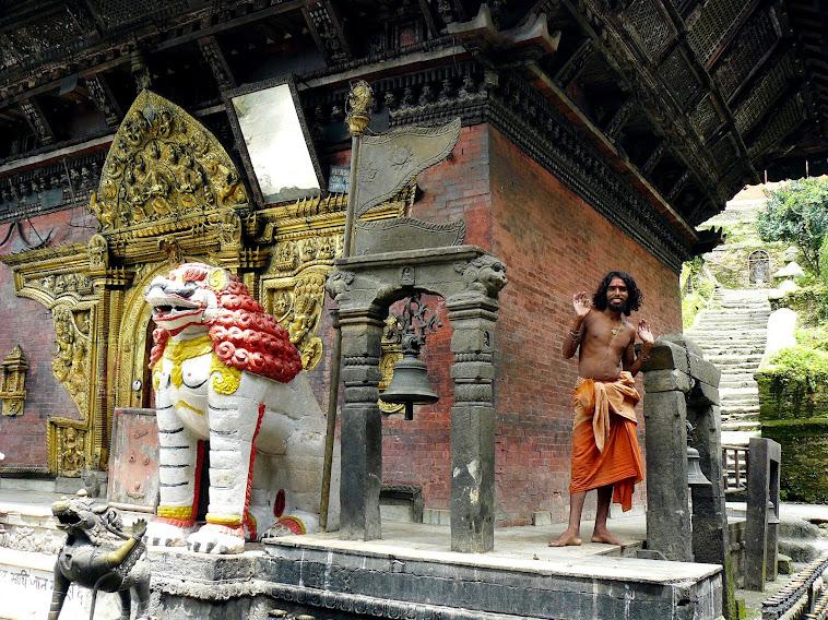 Egy szent ember Sankhu-ban