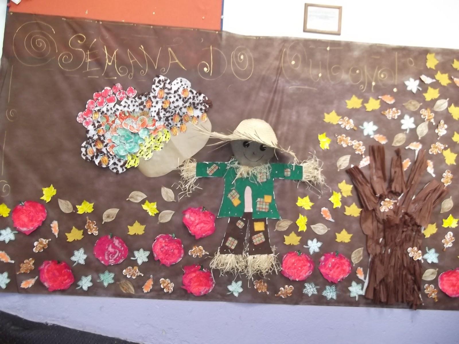 Criança Faz Arte Semana Do Outono