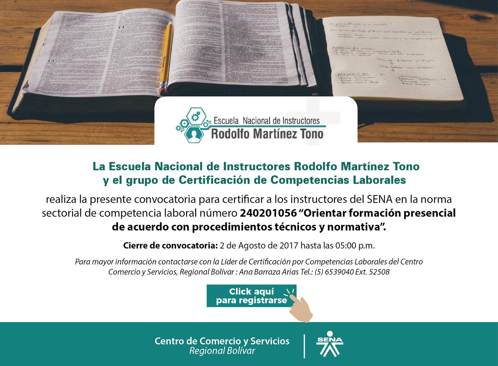 Norma Sectorial de Competencia Laboral No. 240201056