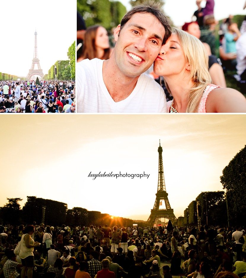 bastille day eiffel tower photo