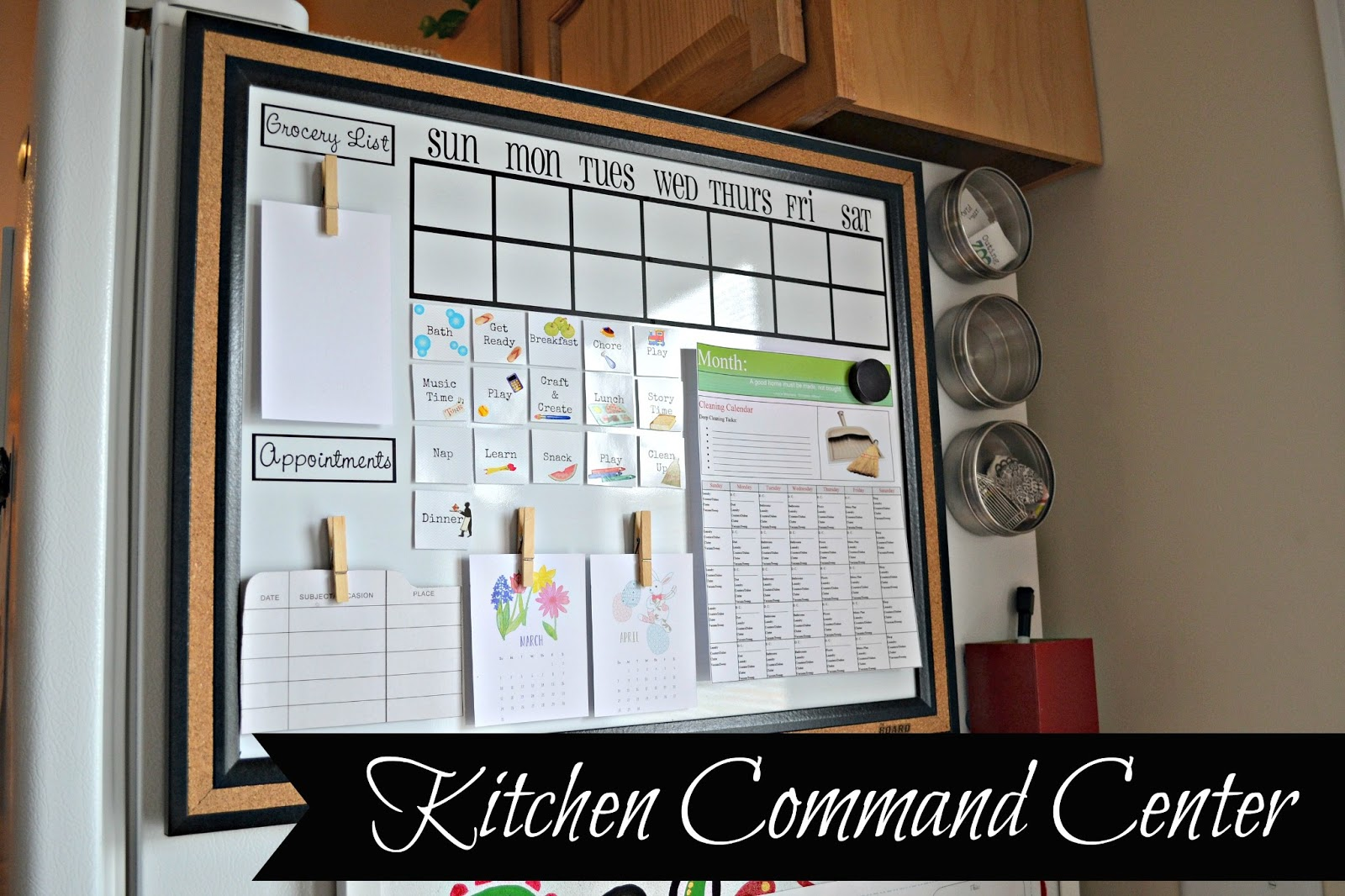 the life of jennifer dawn: kitchen command center