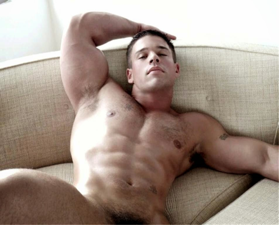 Muscular Man's Armpits Relaxing