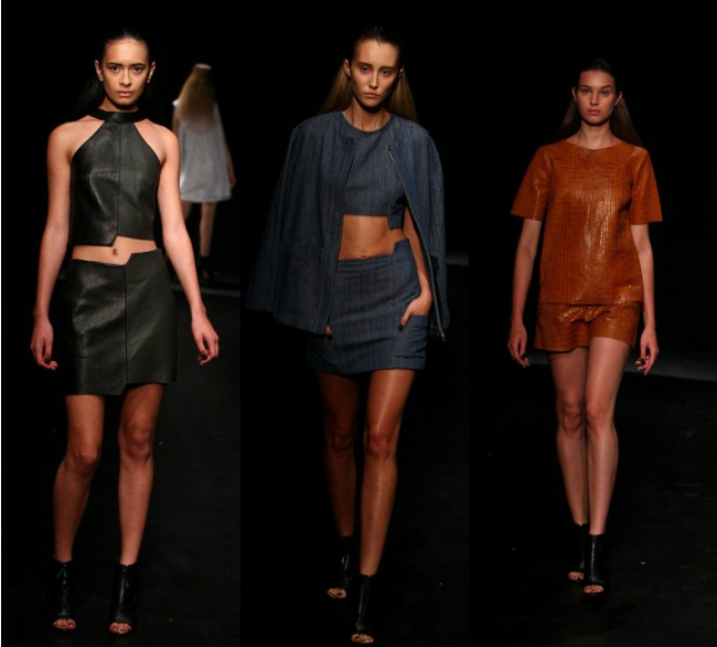 label love kahlo the kirby bee leather mercedes benz fashion week sydney two