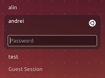 Ubuntu LightDM Unity Greeter
