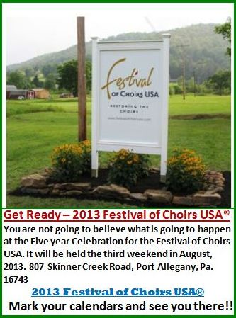 8-2013 Festival Of Choirs USA