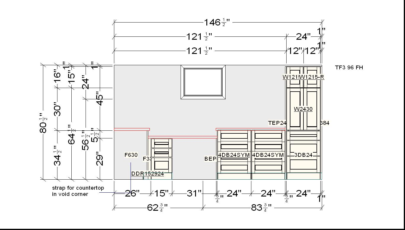Great The Basement Kitchen Cabinetry Layout