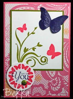 Precious Butterflies Just for You Card