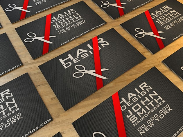 Hairdresser Business Card Template PSD