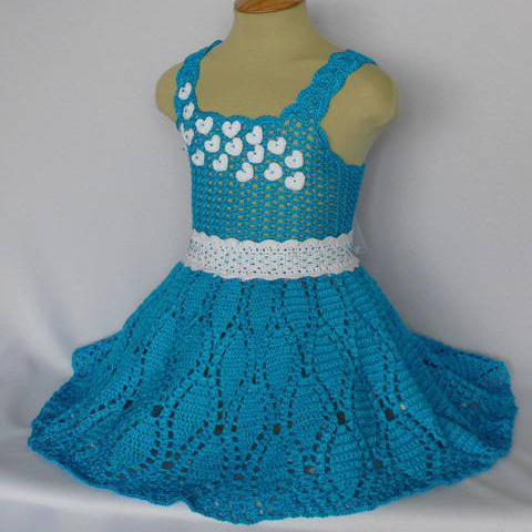Hearts Dress for Little Girls