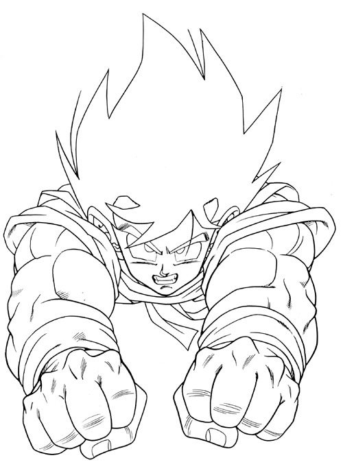 Desenhos do goku para colorir for Dragon ball z goku coloring pages